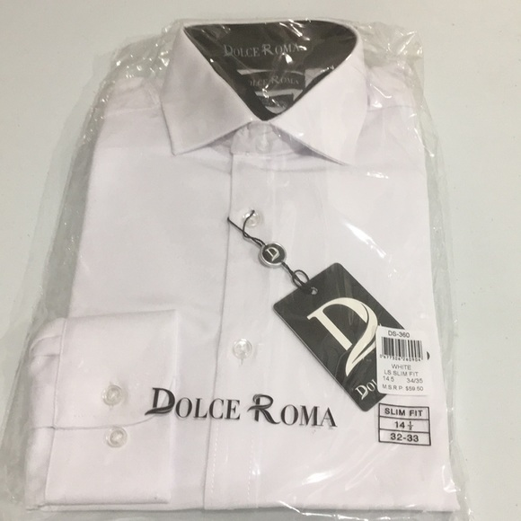 67f787c93 dolce roma Other - Dolce Roma Mens 100% Cotton Slim Fit Dress Shirt